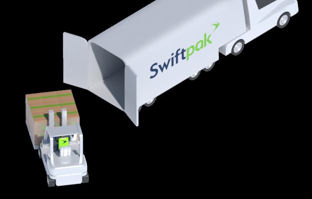 Forklift loading truck